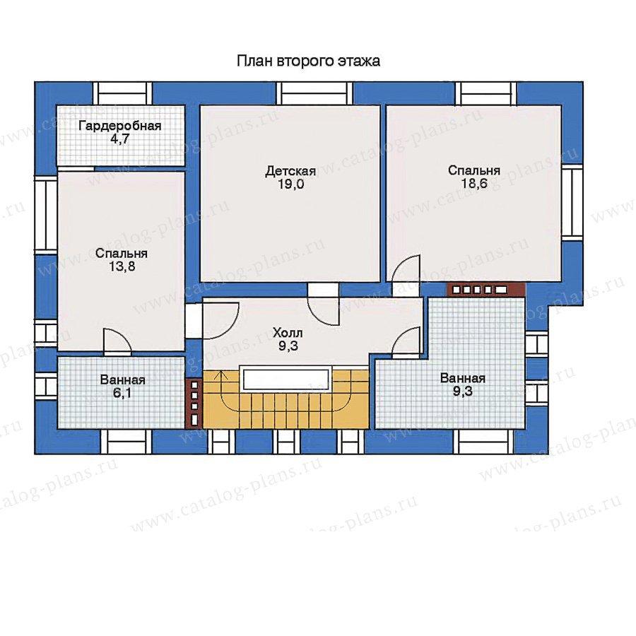 План 2-этажа проекта 34-82