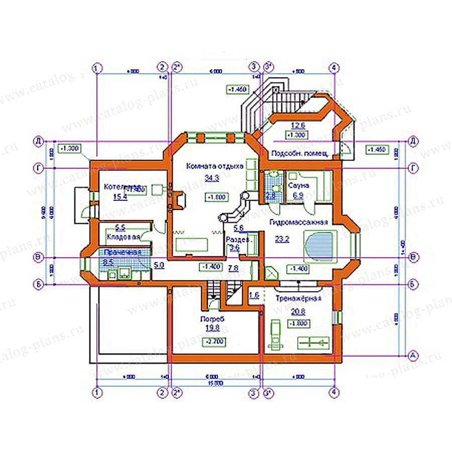План 1-этажа проекта 34-11