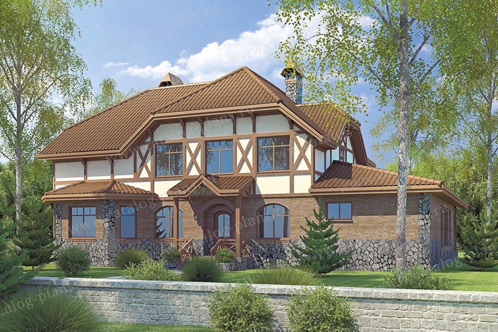 Проект жилой дом #34-49 материал - кирпич, стиль немецкий
