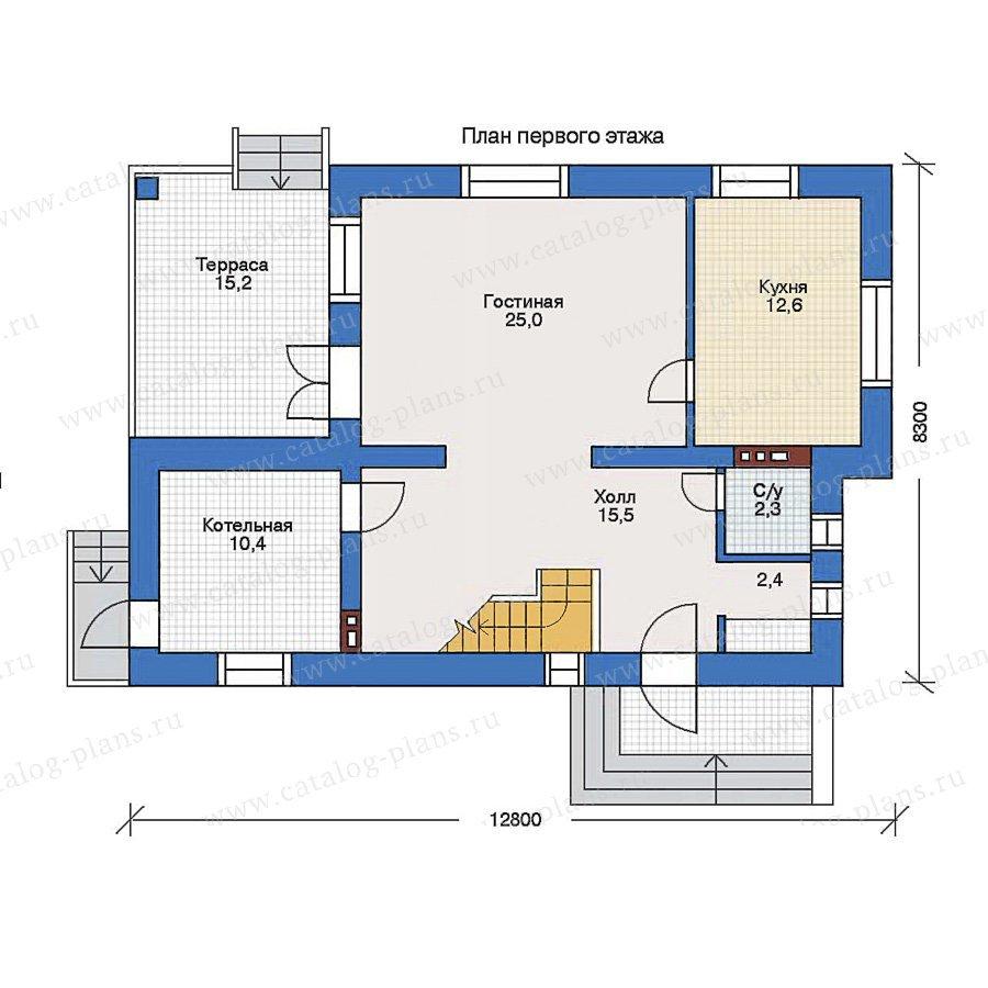 План 1-этажа проекта 34-82