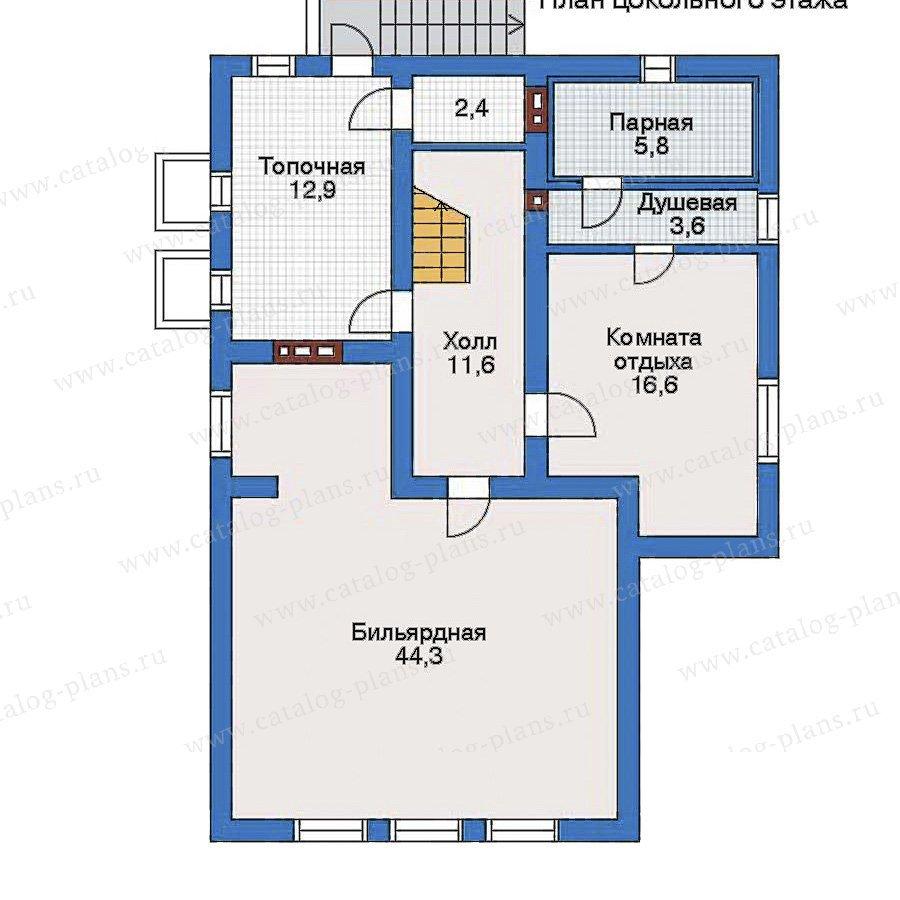 План 1-этажа проекта 34-85