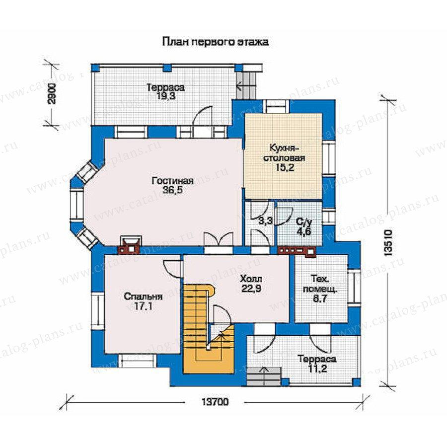План 1-этажа проекта 34-51