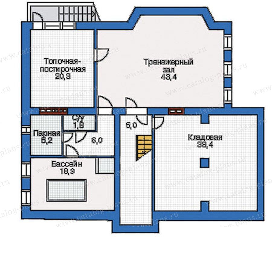 План 1-этажа проекта 34-73