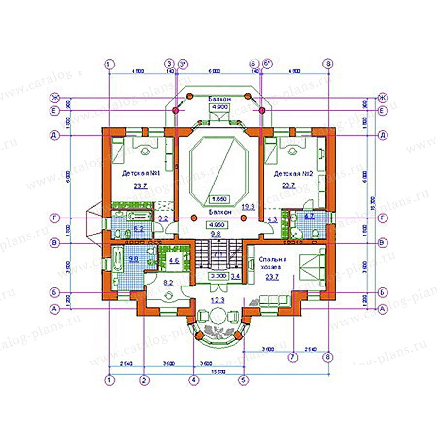 План 2-этажа проекта 34-09