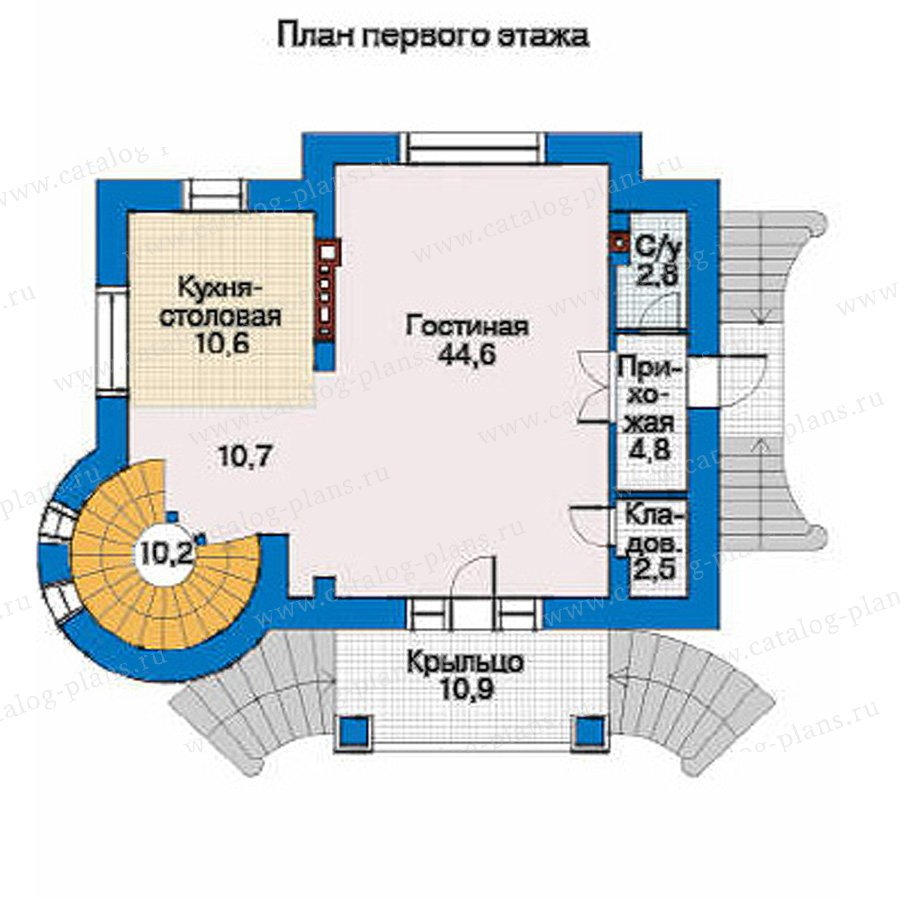 План 2-этажа проекта 34-56