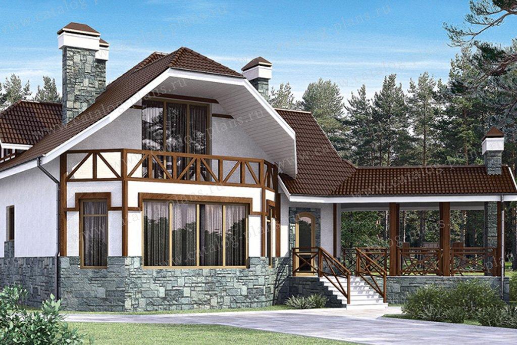 Проект жилой дом #34-36 материал - кирпич, стиль европейский