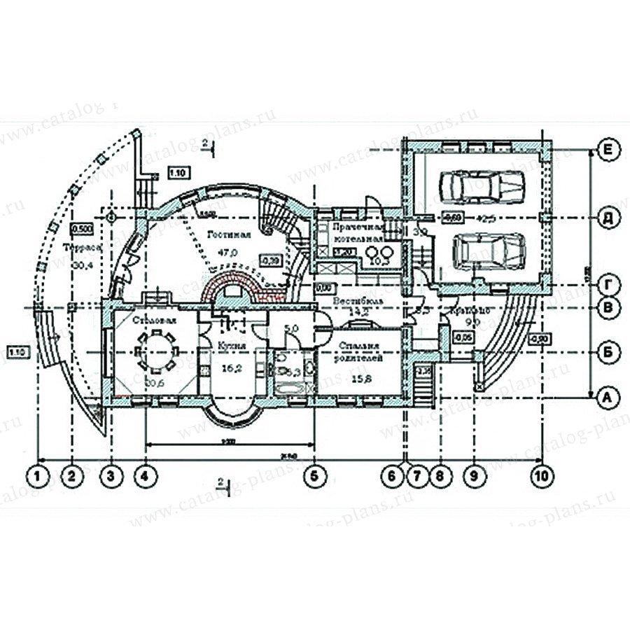 План 1-этажа проекта 34-14