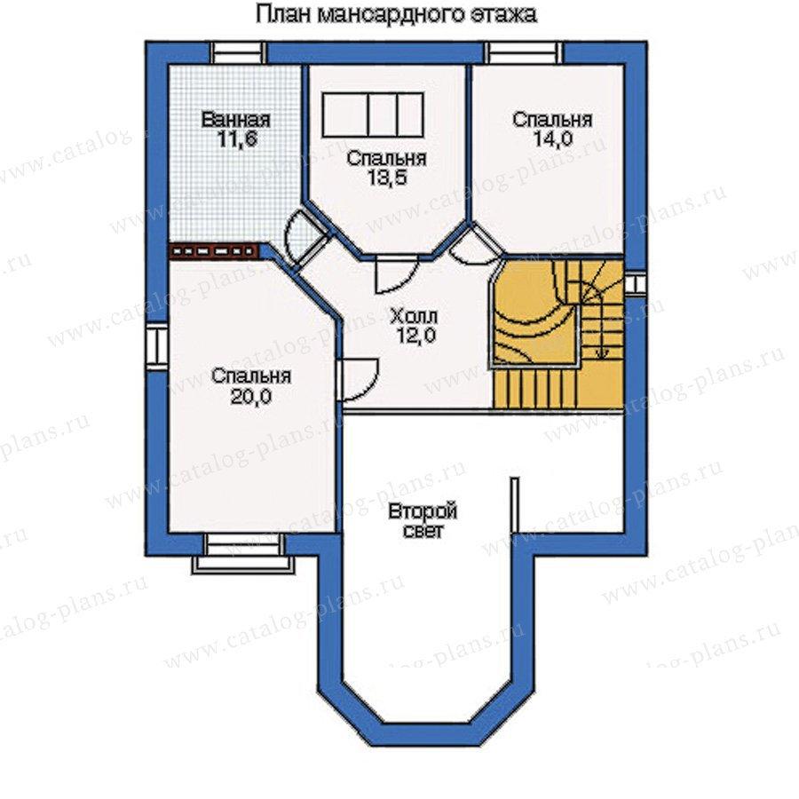 План 2-этажа проекта 34-35