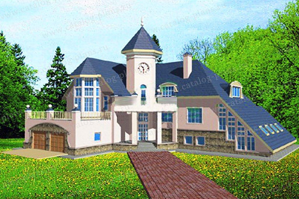 Проект жилой дом #34-08 материал - кирпич, стиль современный