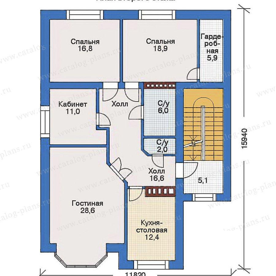 План 2-этажа проекта 34-69