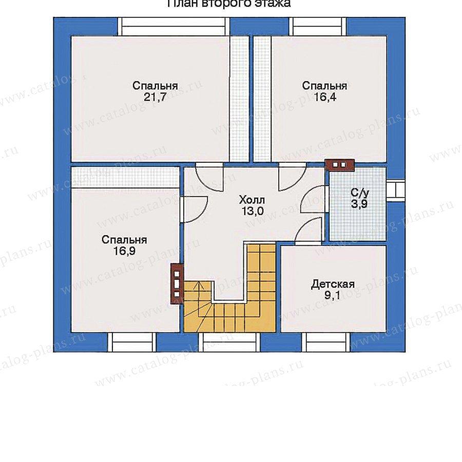 План 2-этажа проекта 34-93