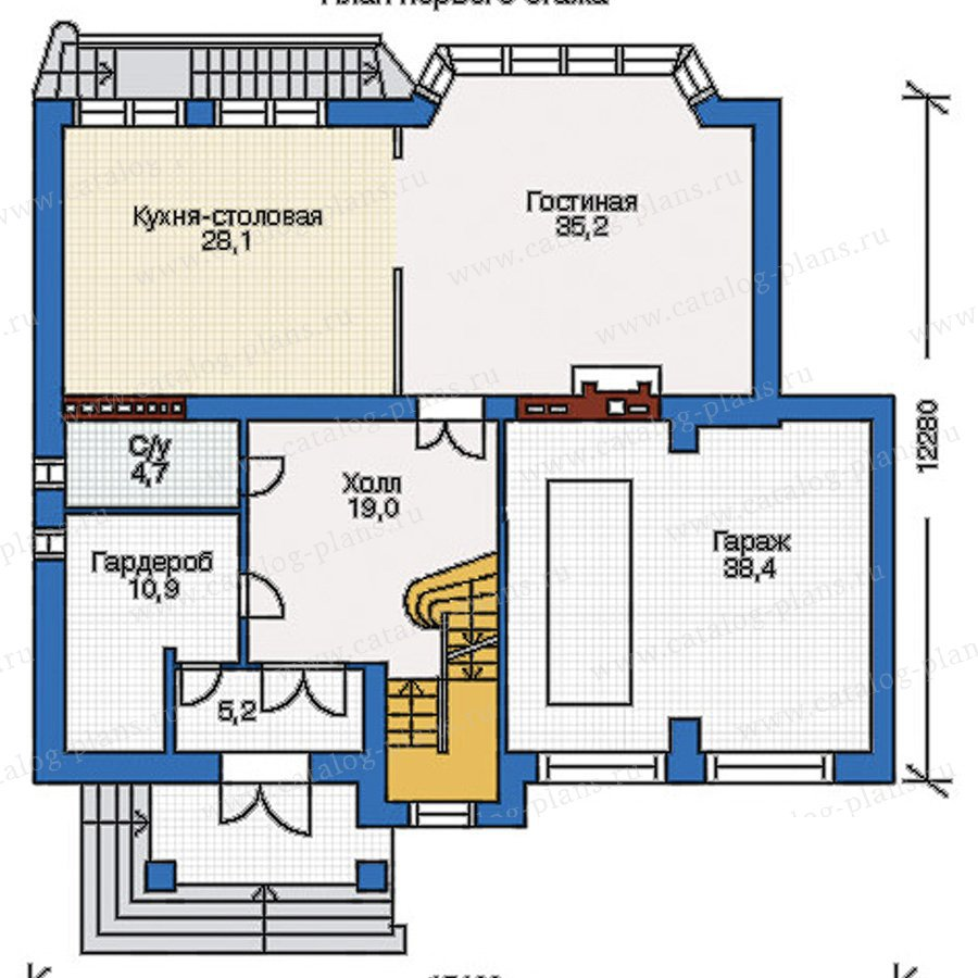 План 2-этажа проекта 34-73