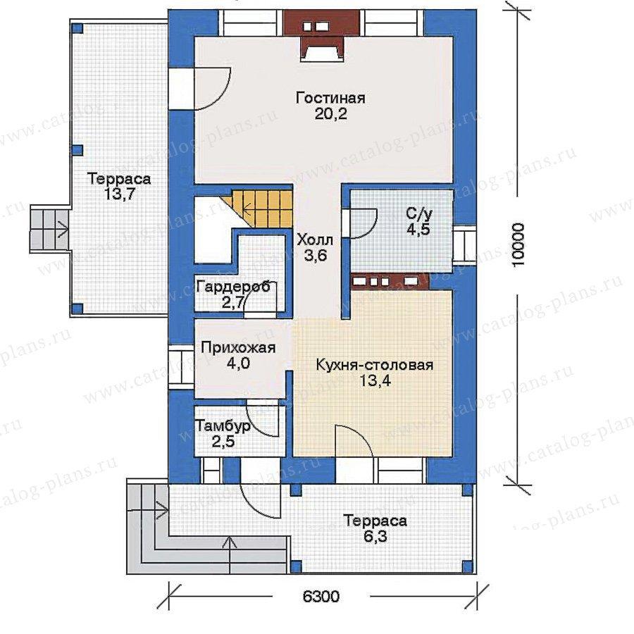 План 1-этажа проекта 34-94