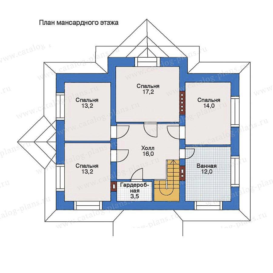 План 2-этажа проекта 34-83