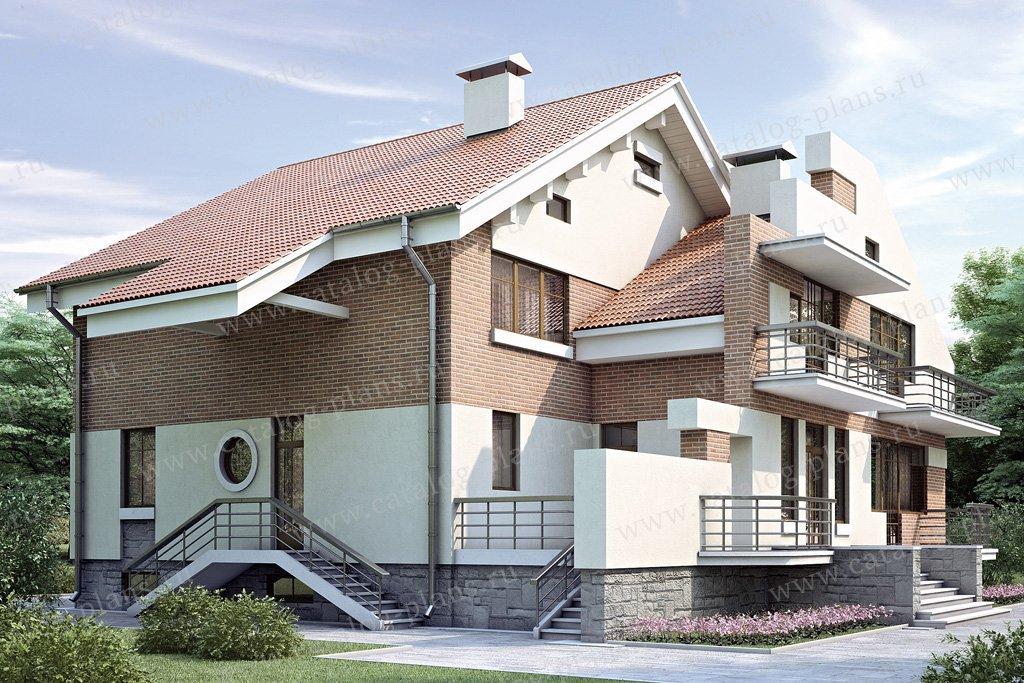 Проект жилой дом #34-91 материал - кирпич, стиль современный