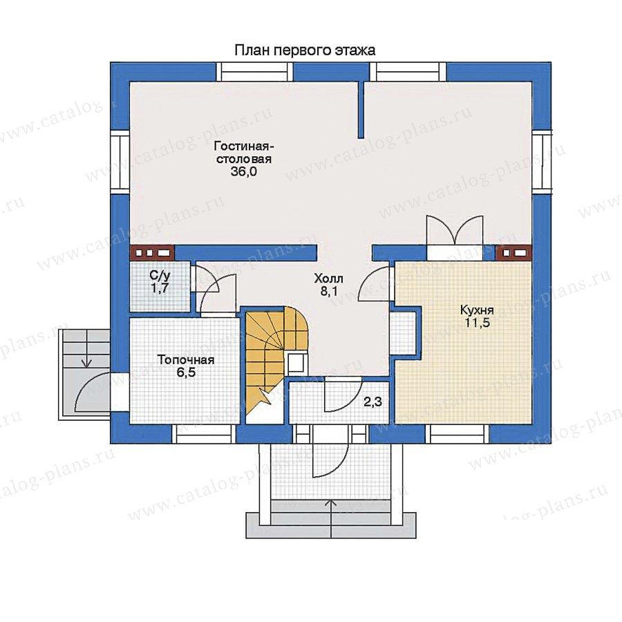 План 1-этажа проекта 34-64