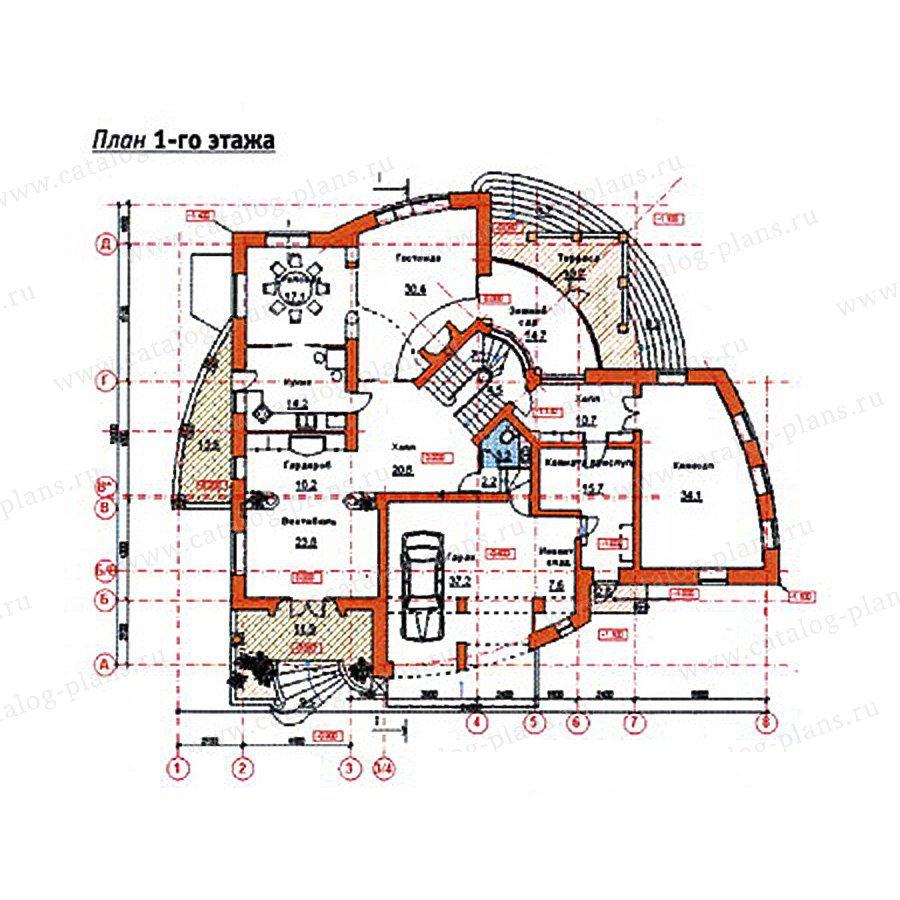 План 2-этажа проекта 34-19