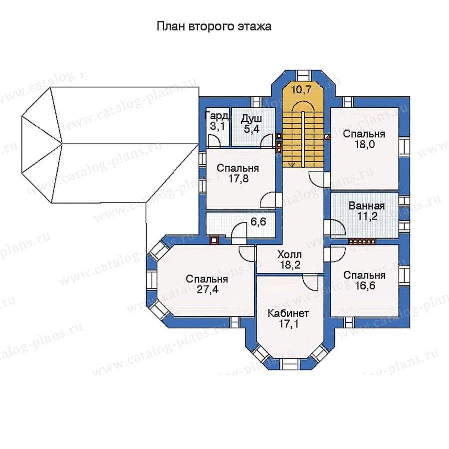 План 2-этажа проекта 34-50