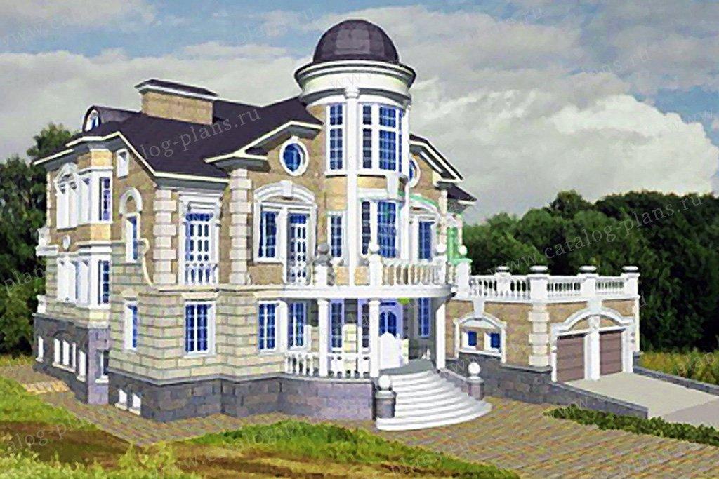 Проект жилой дом #34-22 материал - кирпич, стиль рококо