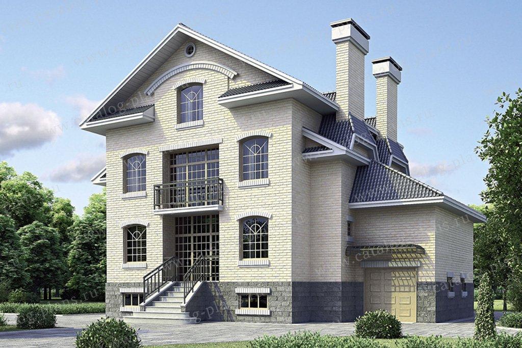 Проект жилой дом #34-44 материал - кирпич, стиль американский
