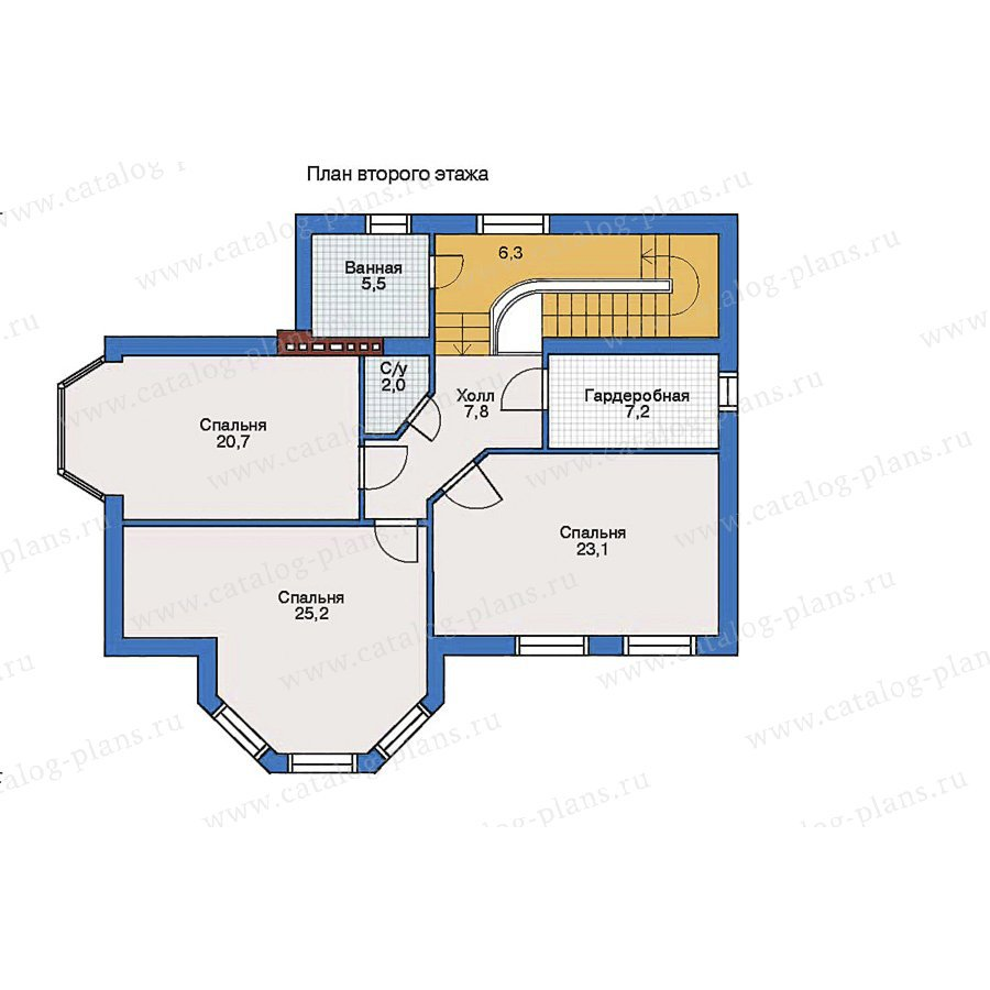 План 2-этажа проекта 34-38