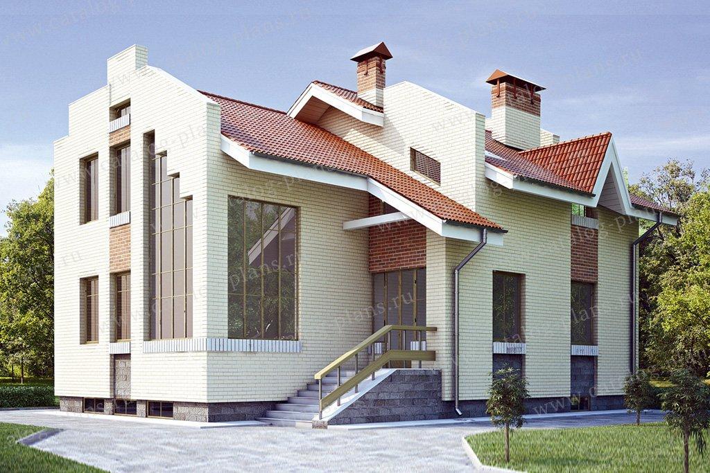 Проект жилой дом #34-85 материал - кирпич, стиль современный