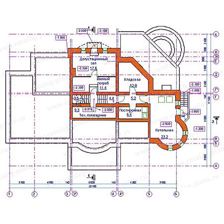 План 1-этажа проекта 34-16