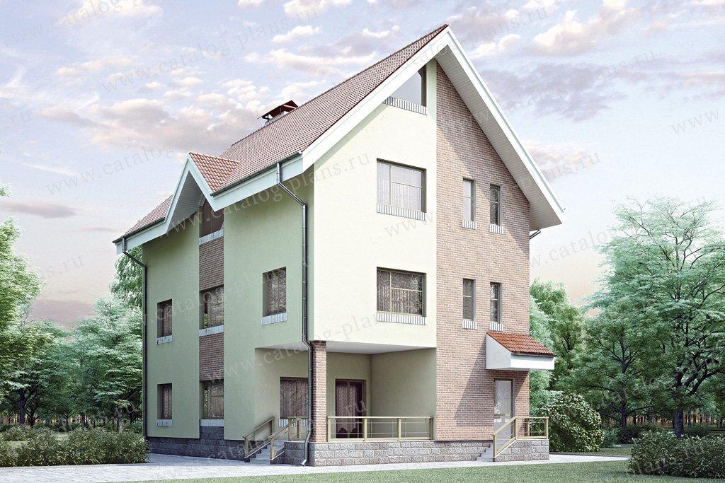 Проект жилой дом #34-82 материал - кирпич, стиль европейский