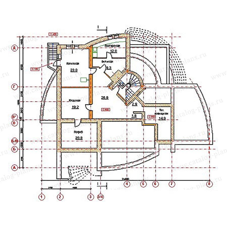 План 1-этажа проекта 34-19
