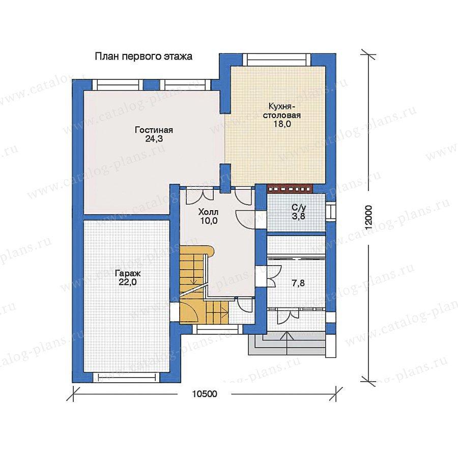 План 1-этажа проекта 34-65