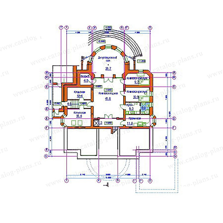 План 1-этажа проекта 34-20