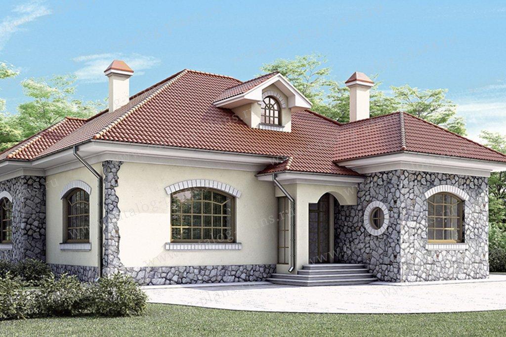 Проект жилой дом #34-68 материал - кирпич, стиль немецкий