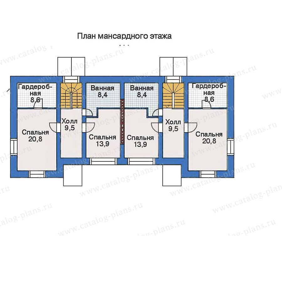 План 3-этажа проекта 34-77