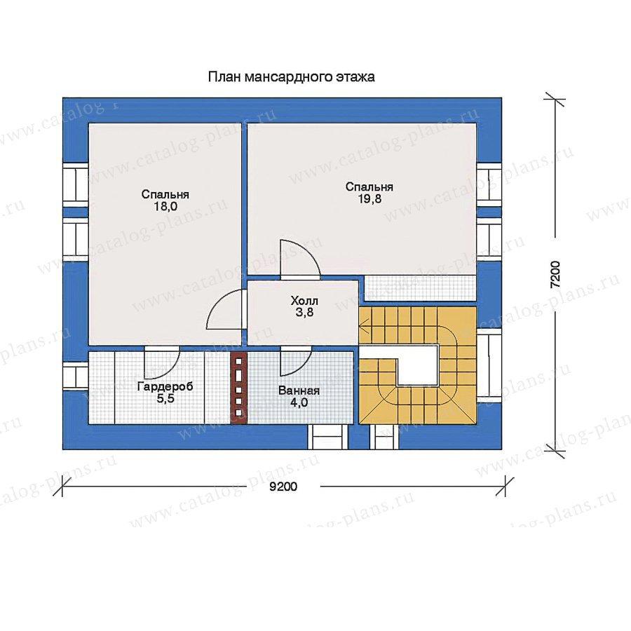 План 2-этажа проекта 34-58