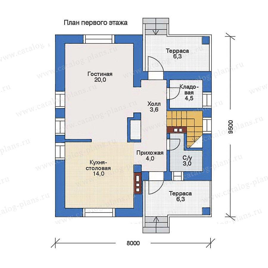 План 1-этажа проекта 34-95