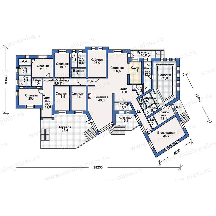 План 1-этажа проекта 34-96