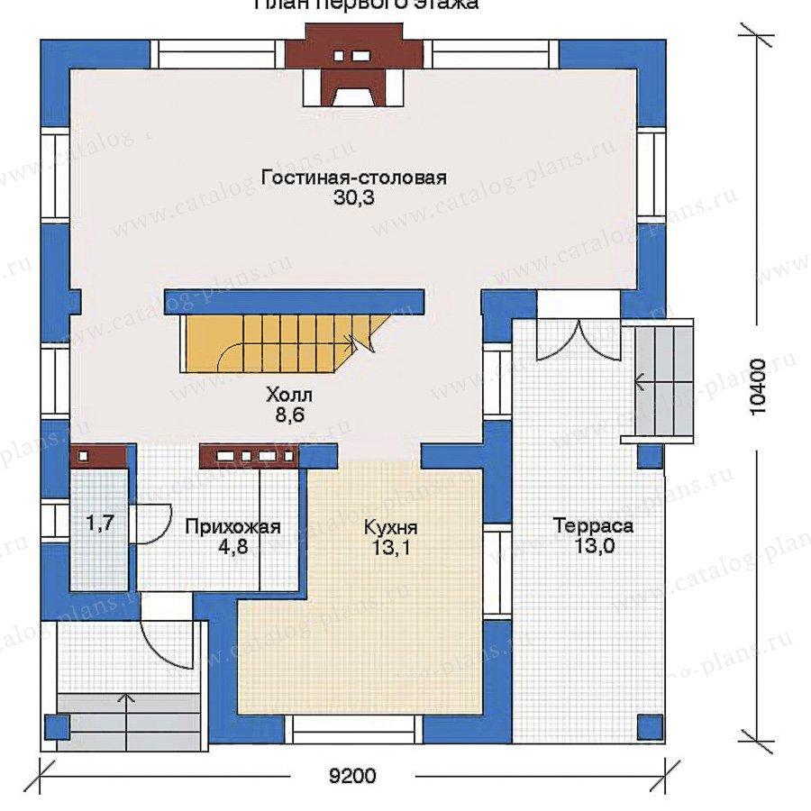 План 2-этажа проекта 34-61