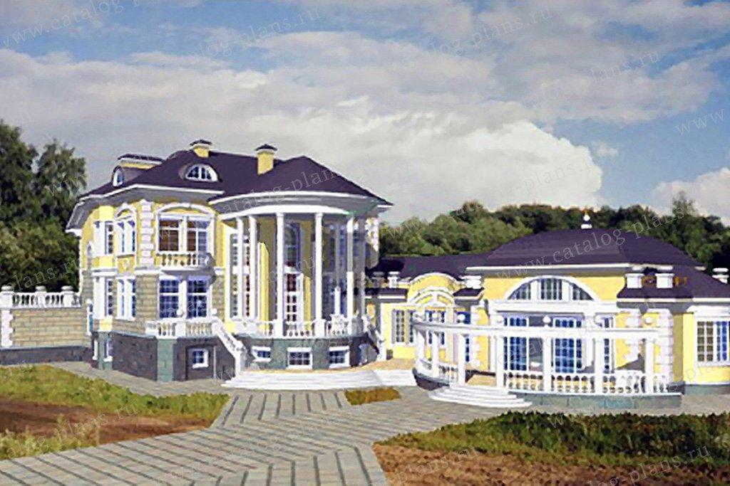 Проект жилой дом #34-20 материал - кирпич, стиль средиземный