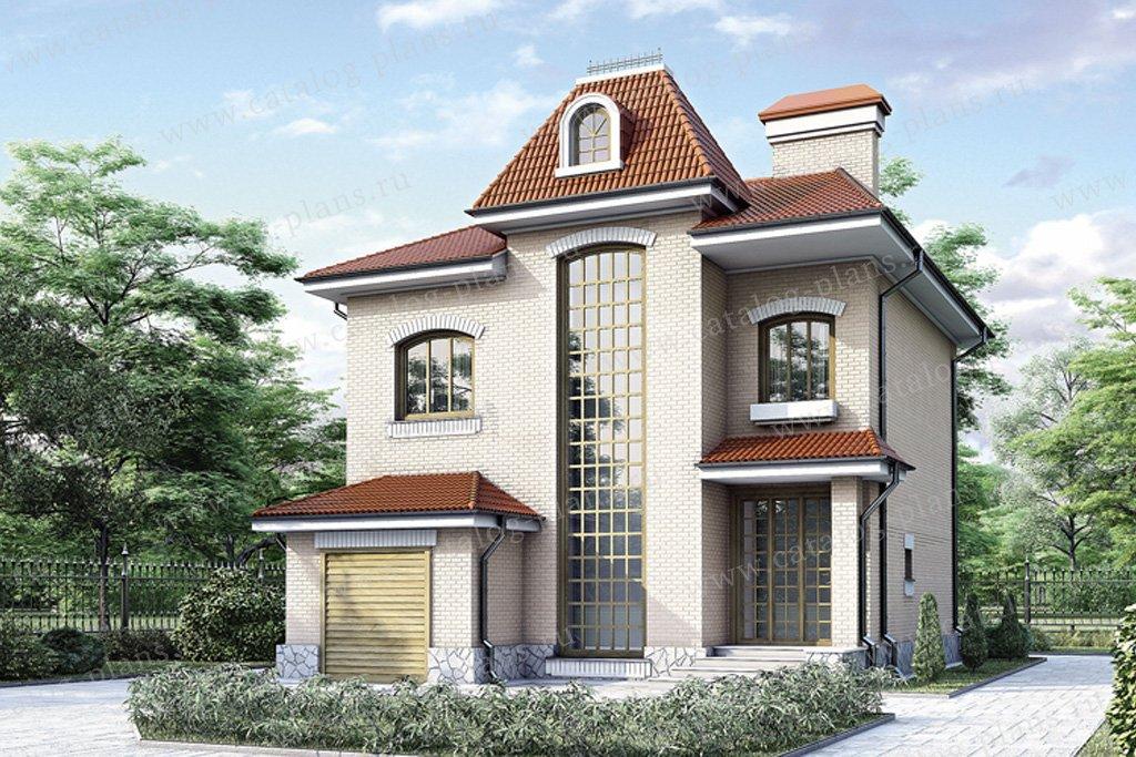 Проект жилой дом #34-65 материал - кирпич, стиль английский