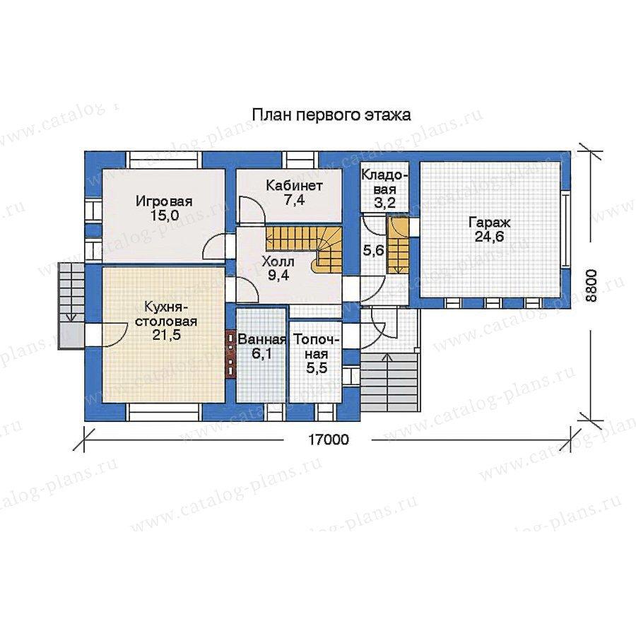 План 1-этажа проекта 34-81