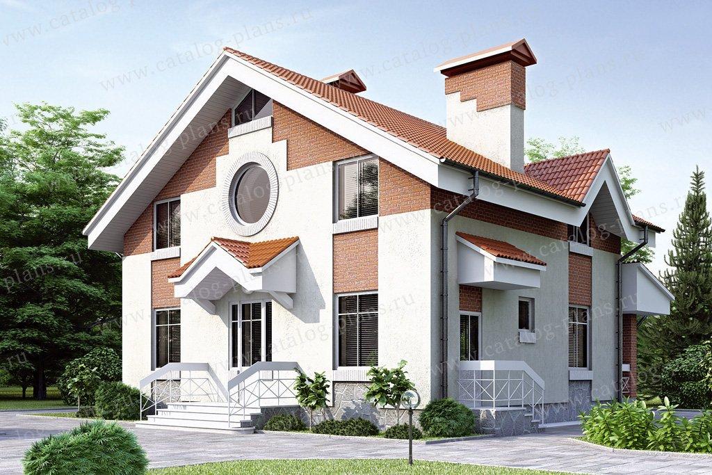 Проект жилой дом #34-60 материал - кирпич, стиль европейский