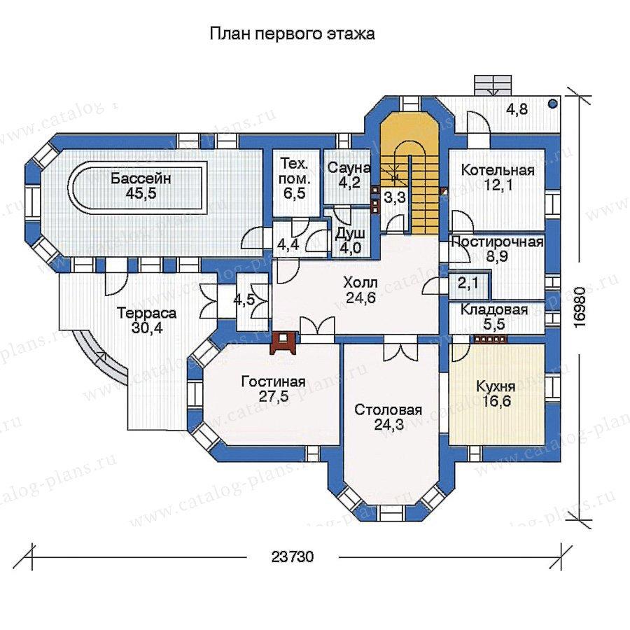 План 1-этажа проекта 34-50