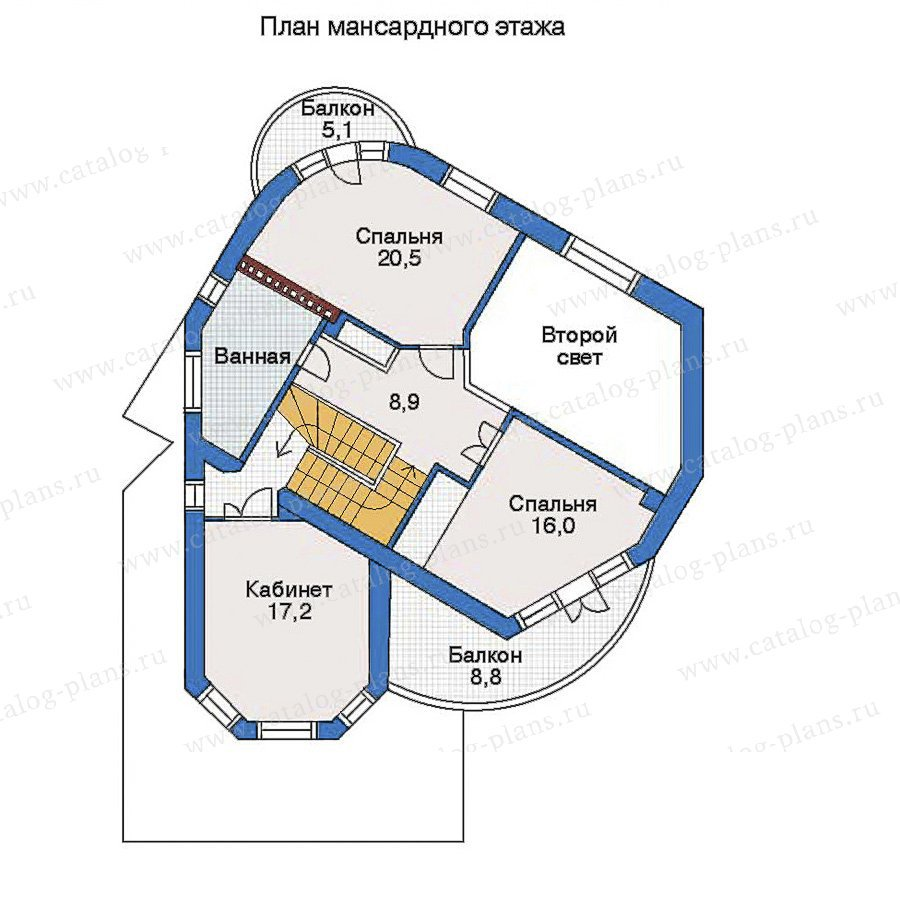 План 3-этажа проекта 34-37