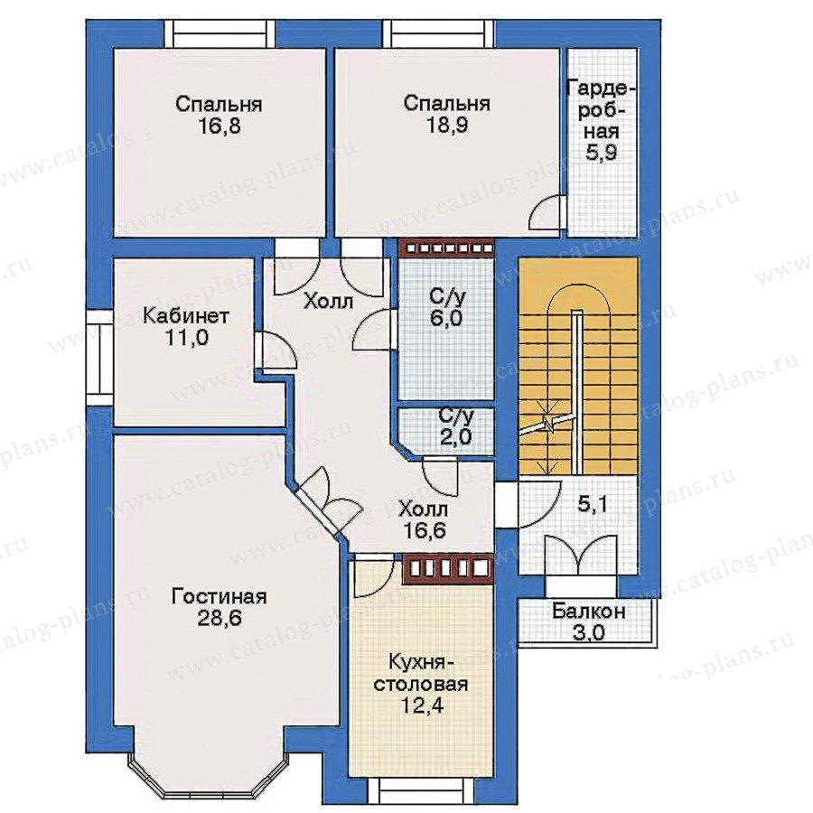 План 3-этажа проекта 34-69