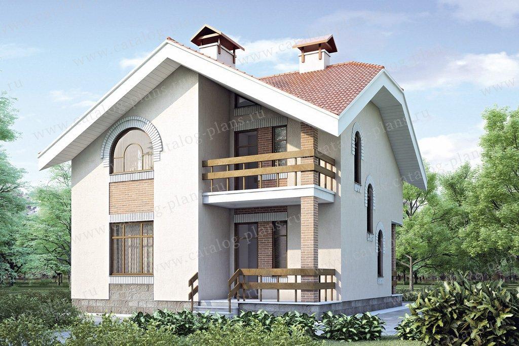 Проект жилой дом #34-95 материал - кирпич, стиль современный