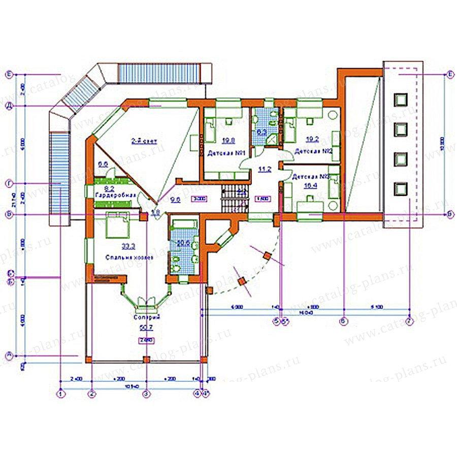 План 2-этажа проекта 34-08