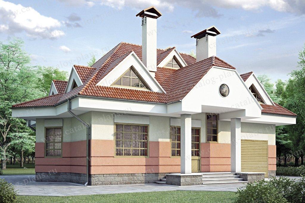 Проект жилой дом #34-83 материал - кирпич, стиль современный