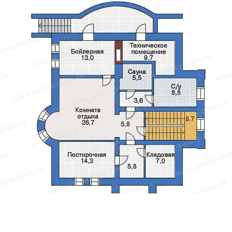 План 1-этажа проекта 34-80