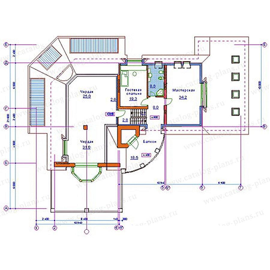 План 3-этажа проекта 34-08
