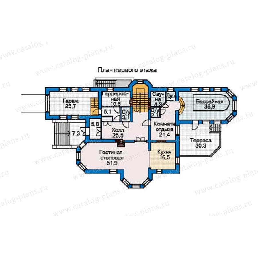 План 2-этажа проекта 34-70